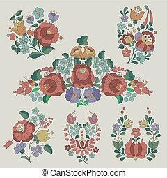 tradicional, flores, decoração