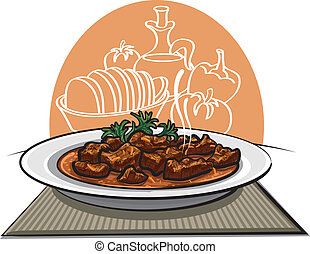tradicional, goulash