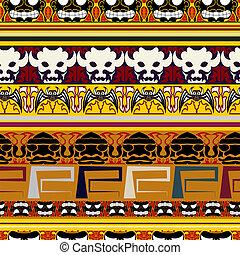 tradicional, indianas, padrão