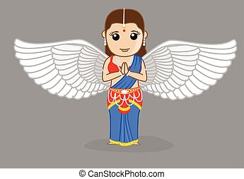 tradicional, indio, angel rezar