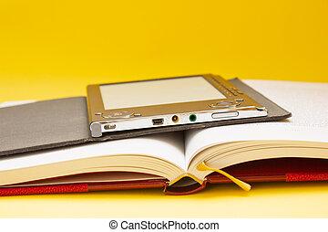 tradicional, libros, libro electrónico