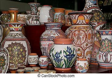 tradicional, local, recuerdos, en, jordania, medio oriente