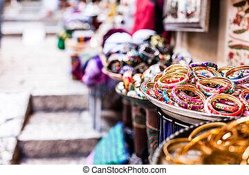 tradicional, mercado de calle, en, jerusalén, israel.