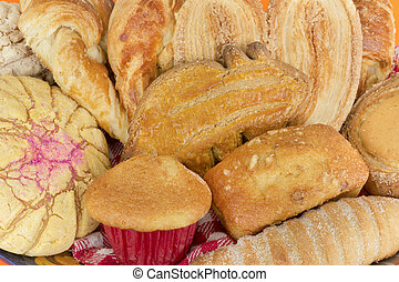 tradicional, mexicano, pão doce, cima
