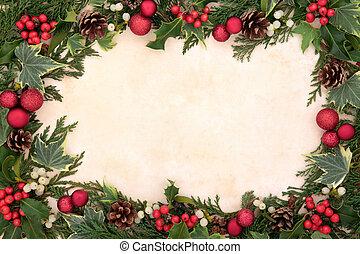 tradicional, natal, borda