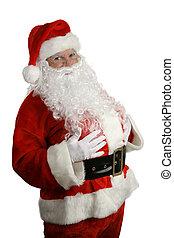 tradicional, navidad, santa