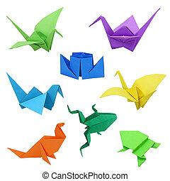 tradicional, origami, japonés