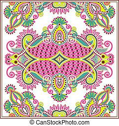 tradicional, ornamental, floral, paisley, bandanna