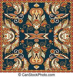 tradicional, ornamental, paisley, floral, bandanna