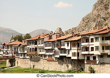 tradicional, otomano, amasya, casas