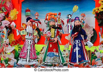 tradicional, papel, chinês, boneca