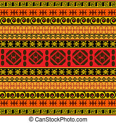 tradicional, patrón, africano