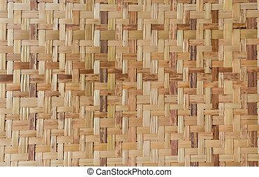 tradicional, patrón, estilo, tailandés, cestería