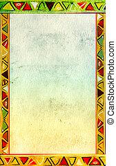 tradicional, patrones, africano