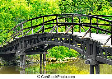 tradicional, ponte, japoneses