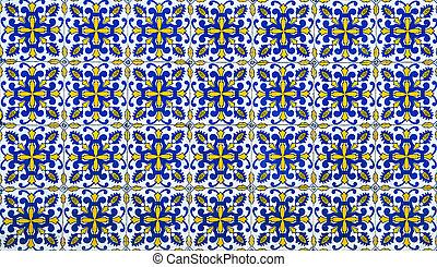 tradicional, portugués, azulejos, azulejos