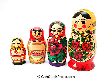 tradicional, ruso, recuerdo