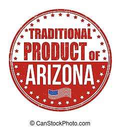 tradicional, selo, produto, arizona