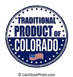 tradicional, selo, produto, colorado