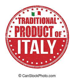 tradicional, selo, produto, itália