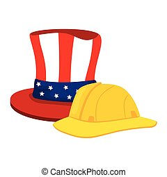 tradicional, sombrero, blanco, estados unidos de américa, ...