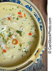 tradicional, sopa, tripa