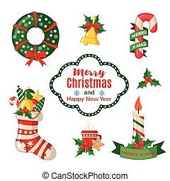 tradicional, symbols., jogo, natal