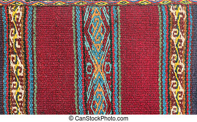tradicional, textil, américa, sur