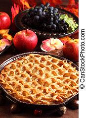 tradicional, torta maçã