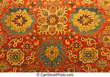 tradicional, turco, alfombra