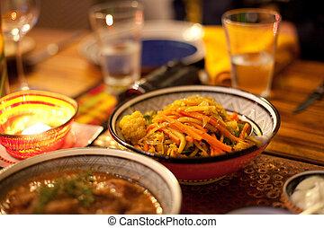 tradicional, vegetales, estilo, africano