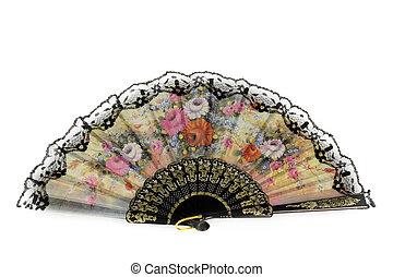 tradicional, ventilador, asiático