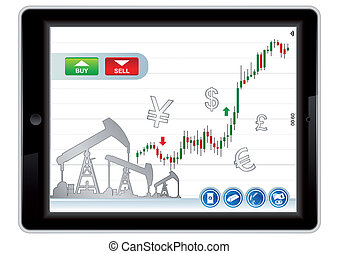 Stock option trading application