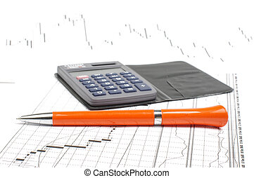 Trading concept - Accounting and stock trading concept