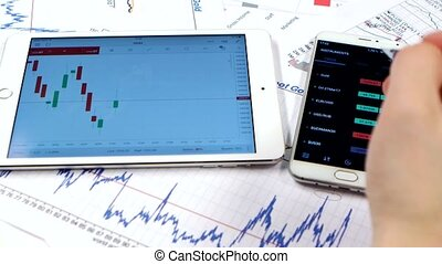 Trading in international financial money market using online communication gadgets