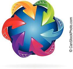Trading world business logo