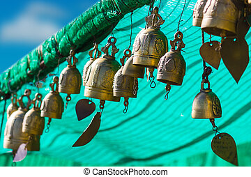 tradition asian bell in Big Buddha temple complex, Thailand