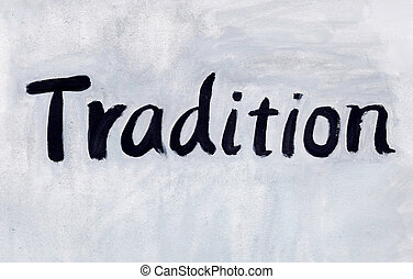 tradition concept word
