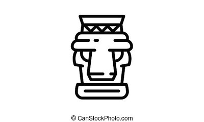 Tradition idol icon animation outline best object on white background
