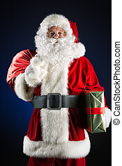 tradition - Portrait of a traditional Santa Claus with...