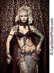 tradition vogue - Beautiful traditional female dancer....