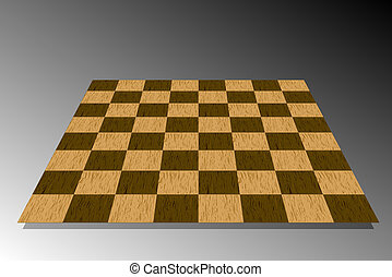 Traditional 3d Wooden Chessboard Illustration