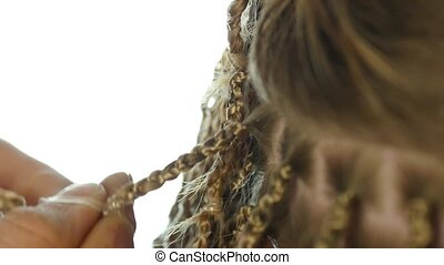 Traditional African hairstyles on white women. professional...