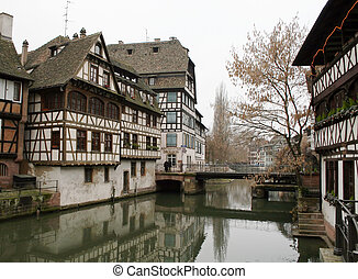 Strasbourg - Traditional Alsace houses in Strasbourg...