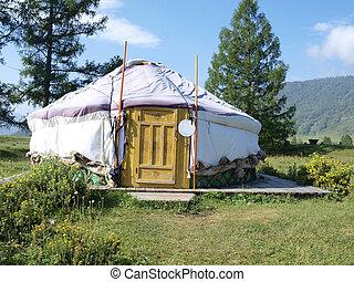 Altai yurt - Traditional Altai yurt