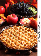 Traditional apple pie for Thanksgiving
