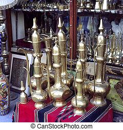 Traditional Arab coffee pots