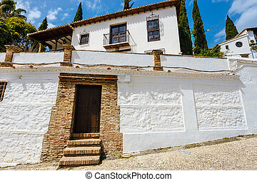 Albaicin medieval quarter,granada, spain  Granada, spain - albaicin