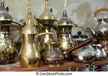 Traditional arabic coffee pots