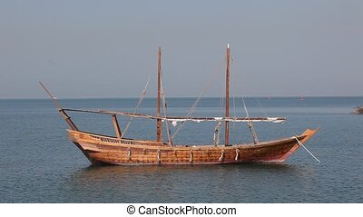 Traditional arabic dhow in Doha, Qatar